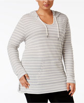 Style&Co. Style & Co Plus Size Hooded Striped Top, Only at Macy's