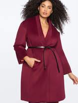 ELOQUII Belted Long Coat