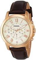 Fossil Men's FS4991 Grant Chronograph Leather Watch -