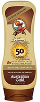 Australian Gold SPF 50 Broad Spectrum Sunscreen Lotion with Kona Bronzers, 8 Ounce