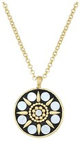 Lucky Brand Hammered Mother-of-Pearl Pendant Necklace (Gold) Necklace