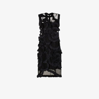 MONCLER GENIUS 4 Moncler Simone Rocha ruffled sheer silk midi dress