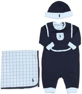 Ralph Lauren Cotton Romper, Hat, Bib, & Blanket