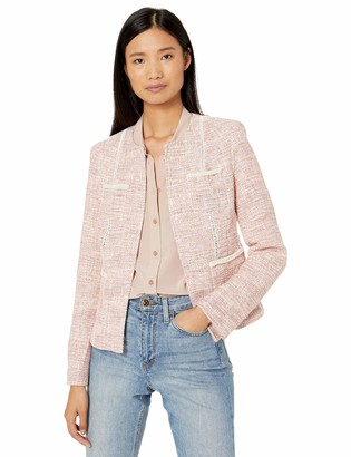 Tahari ASL Women's Boucle Jacket with Trim
