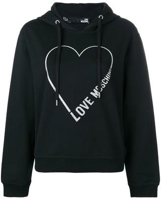 Love Moschino logo heart hoodie