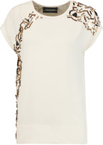 By Malene Birger Wicca embellished crepe top
