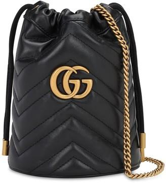 Gucci Mini Gg Marmont 2.0 Leather Bucket Bag