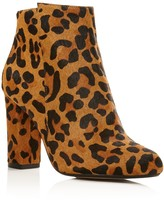 Raye Ivy Leopard Print Calf Hair High Heel Booties