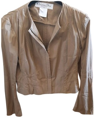 Christian Dior Beige Suede Leather jackets