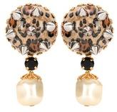 Dolce & Gabbana Leopard-printed clip-on earrings