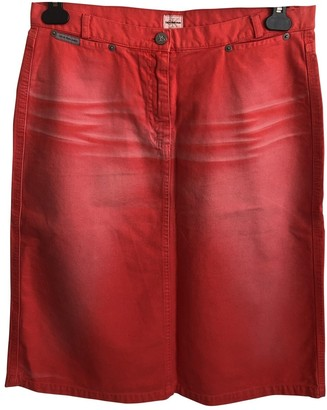 Calvin Klein Red Denim - Jeans Skirt for Women Vintage