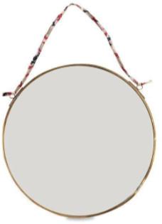 Nkuku Kiko Brass Round Mirror - Small