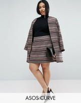 Asos Stripe Mini Skirt Co-Ord