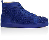 Christian Louboutin Men's Louis Flat Suede Sneakers
