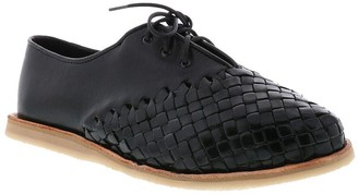 Sbicca Huarache-Inspired Leather Lace-Up Flats- Trigo