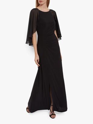 Gina Bacconi Charlotte Jersey Waterfall Sleeve Maxi Dress