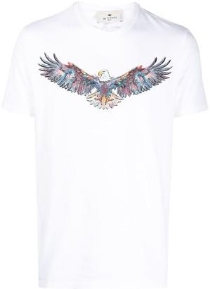 Etro eagle-print short sleeved T-shirt