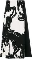 Sportmax A-line horses skirt