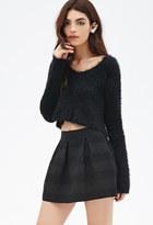 Forever 21 FOREVER 21+ Box-Pleated Mini Skirt
