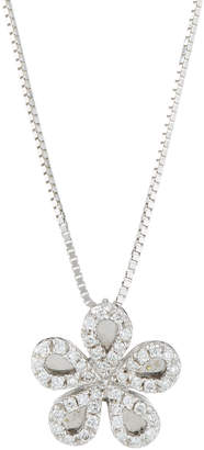 Zoccai 18K White Gold Diamond Daisy Necklace