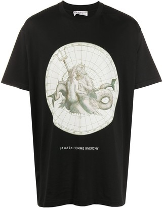 Givenchy Poseidon print T-shirt