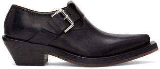 Ion Black Buckle Loafers