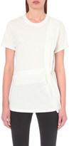 3.1 Phillip Lim Silk-trim cotton-jersey t-shirt