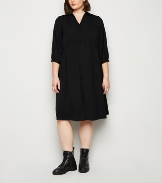 New Look Curves Smock Shirt Midi Dress
