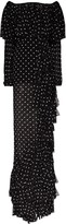 Balmain Off-The-Shoulder Ruffled Polka-Dot Gown