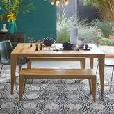 west elm Anderson Solid Wood Dining Bench - Raw Acacia