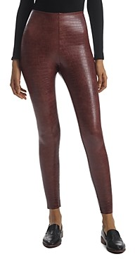 Commando Faux Leather Animal Print Leggings