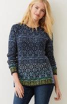 J. Jill Jacquard Cotton-Blend Sweater