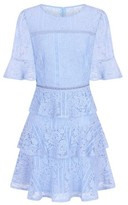 Dorothy Perkins Womens Girls On Film Light Blue Lace Frill Dress, Blue