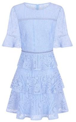 Dorothy Perkins Womens **Girls On Film Light Blue Lace Frill Dress, Blue