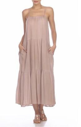 BOHO ME Tiered Pocket Maxi Dress