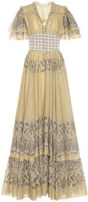 Etro Printed cotton gown
