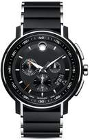 Movado Black Finished Stainless Steel Strato Chronograph, 44mm