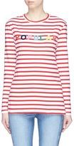 Etre Cecile 'Popular' flocked print stripe long sleeve T-shirt
