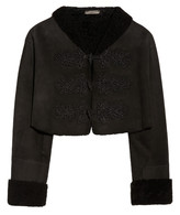 Alexander McQueen Cropped shearling jacket