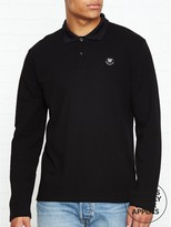 Wood Wood George Long Sleeve Pique Polo Shirt