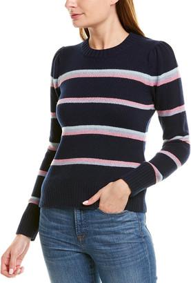 La Vie Rebecca Taylor Striped Wool-Blend Pullover