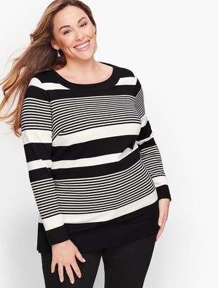 Talbots Long Sleeve Tunic - Holly Stripe