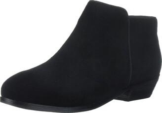 SoftWalk Women's Rocklin Black Suede Boot 6 N
