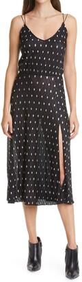 Rotate by Birger Christensen Ofelia Metallic Dot Strappy Dress