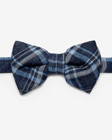 Ted Baker Linen checked bow tie