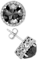 Macy's Black Diamond Halo Stud Earrings (2 ct. t.w.) in 14k Gold, White Gold or Rose Gold