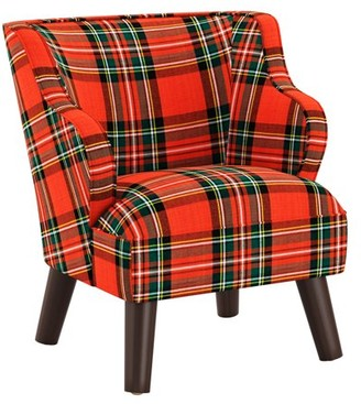 Skyline Furniture Kids Modern Chair in Ancient Stewart Red