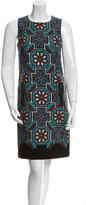 Andrew Gn Sleeveless Jacquard Dress