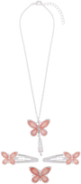 Monsoon Jewel Butterfly Necklace Click Clack & Ring Set