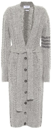 Thom Browne Cable-knit wool and mohair cardigan